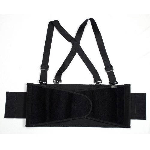 Cordova Black Back Support Belt with Glide Adjustable Clips