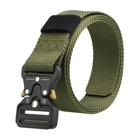 Mens Adjustable Military Belt Buckle Combat Waistband Tactical Rescue Tool ()