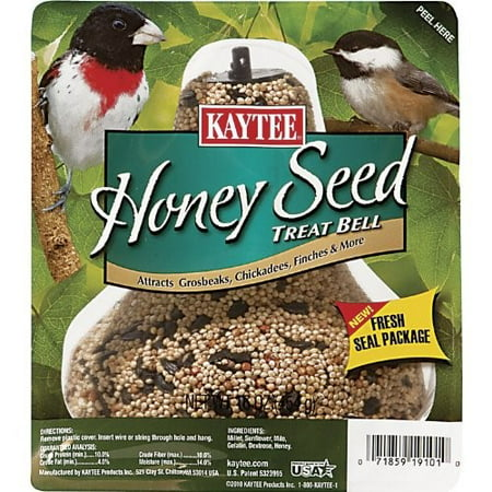 Kaytee Wild Birds Honey Mixed Seed Treat Bell 1