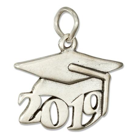 "STERLING SILVER YEAR ""2019"" GRADUATION CAP CHARM"