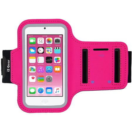 Ipod Touch Armband - iPod Touch 6th Generation (6G) Exercise & Running MP3 Player Armband Case with Key Holder (Hot Pink)