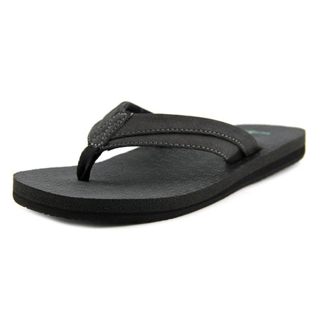 18a0102084c Sanuk Rootbeer Cozy Light Youth Open Toe Synthetic Black Thong Sandal