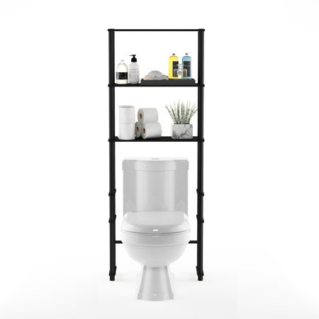 Decor Space Saver - Furinno 99763 Turn-N-Tube Toilet Space Saver with 3 Shelves