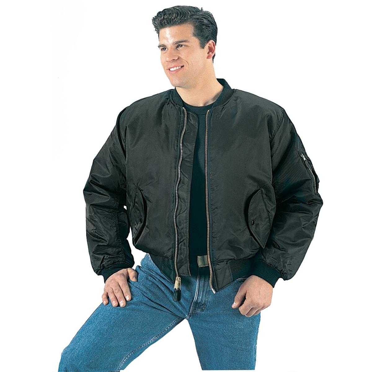 MA-1 Flight Jacket, Black, Pilot Jacket - Walmart.com