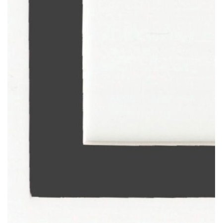 Charcoal - Dark Gray Acid Free Picture Frame Mat, 5x7 ()