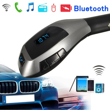 - Grtsunsea Wireless in-Car bluetooth FM Transmitter Radio Adapter Car Kit with Hand-Free Calling & Digital Display MP3 Player Support TF Card USB Disk Car