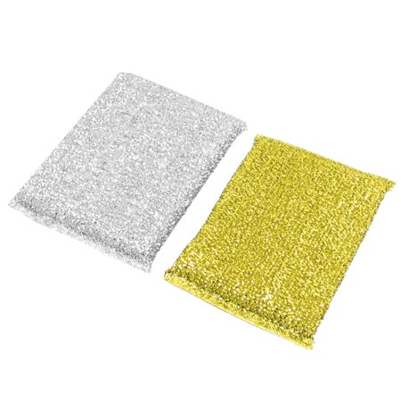 - Unique Bargains 2 Pcs Cotton Blends Sponge Scrub Scouring Cleaning Pads for Pans
