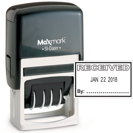 MaxMark Office Date Stamp With RECEIVED Self Inking