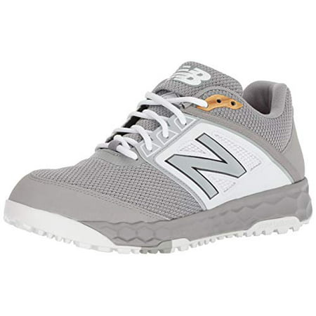 dbda71d4f New Balance Men s 3000v4 Turf Baseball Shoe. Grey White. 11.5 D US -  Walmart.com