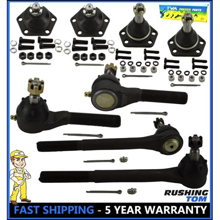 - 8 Pc Kit Inner Outer Tie Rod End Upper Lower Ball Joint Blazer S10 Bravada 4WD