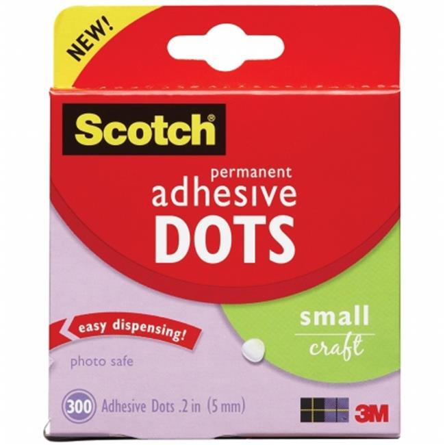 3M 3MADH-300S Scotch Permanent Adhesive Dots-Small Craft 300-Pkg