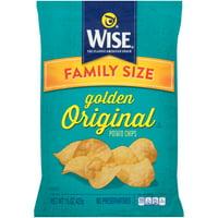 Wise Golden Original Potato Chips Family Size, 15 Oz.