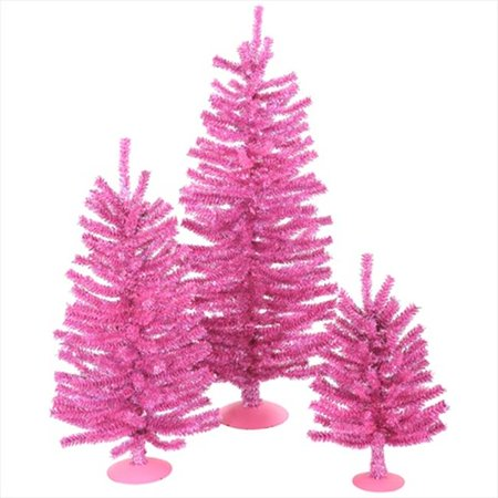 NorthLight 12, 18 & 24 inch Sparkling Pink Artificial ...