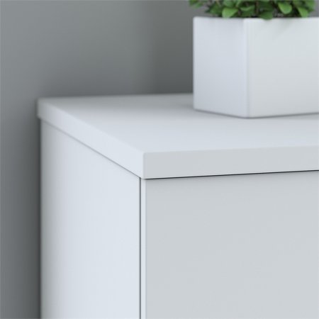 Bush Business 400 Series 36W 2 Drawer Lateral File Cabinet in White - image 4 de 6