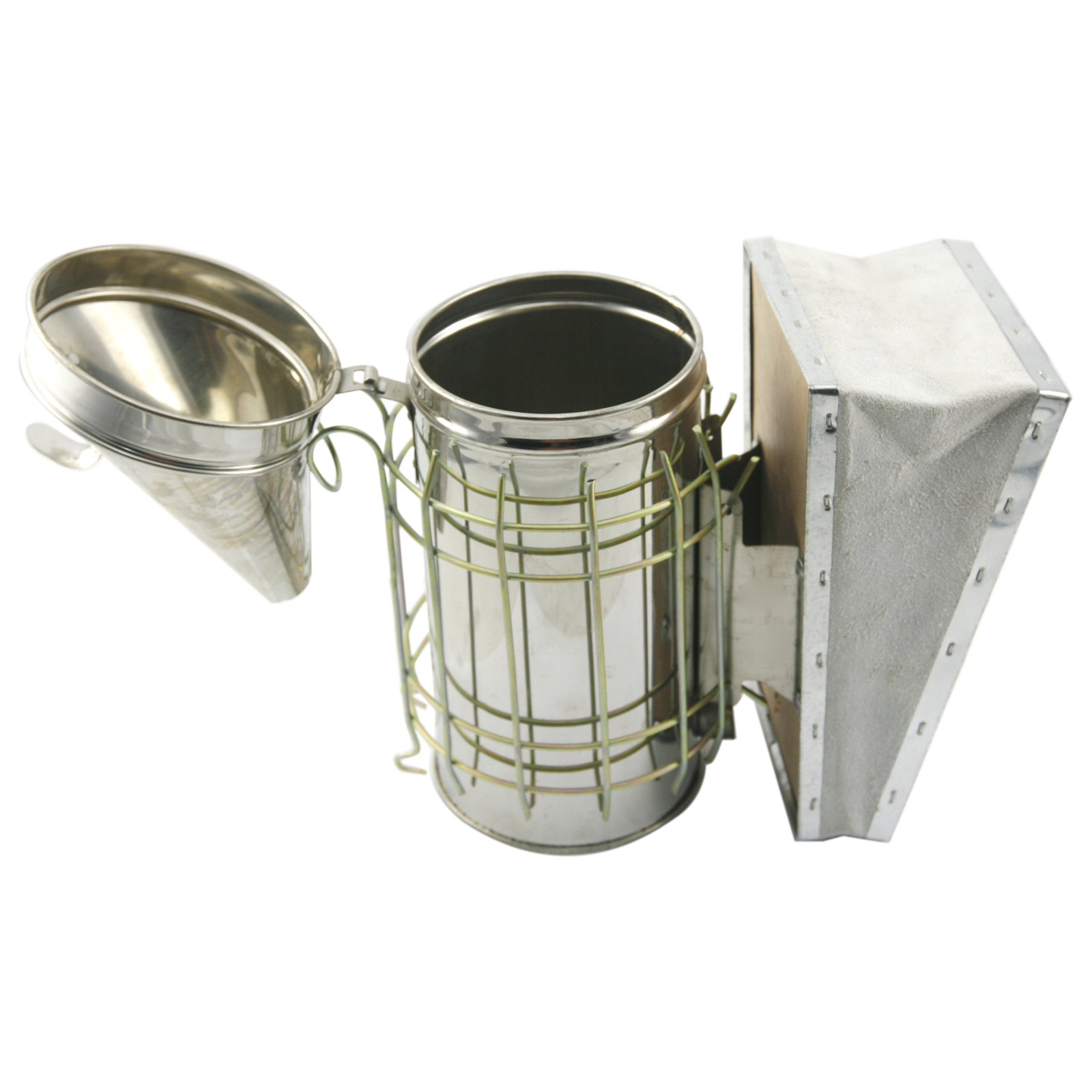Bee Hive Smoker Stainless Steel with Heat Shield Protection Beekeeping Equipment by CO-Z