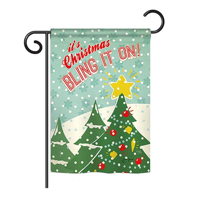 Breeze Decor BD-XM-G-114196-IP-BO-DS02-US Christmas Bling It On Winter - Seasonal Christmas Impressions Decorative Vertical Garden Flag - 13 x 18.5 in. - image 1 of 1