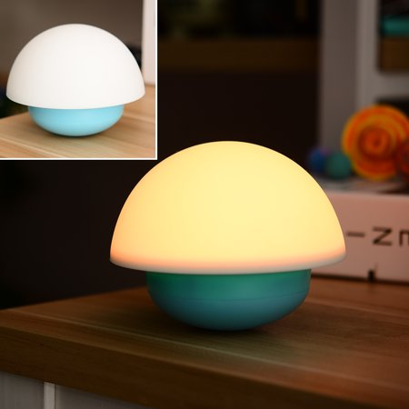 Seven Mushroom (Tumbler Mushroom Touch Sensor Nightlight With 7 Color Changing LED Night Light For)