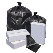 Highmark™ Repro Trash Liners, 1.25 mil, 40 To 45 Gallons, 70% Recycled, Black, Box Of 100 Liners