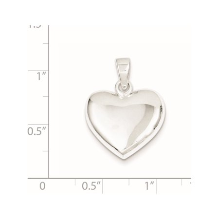 925 Sterling Silver Polished Heart (20x22mm) Pendant / Charm - image 1 de 2