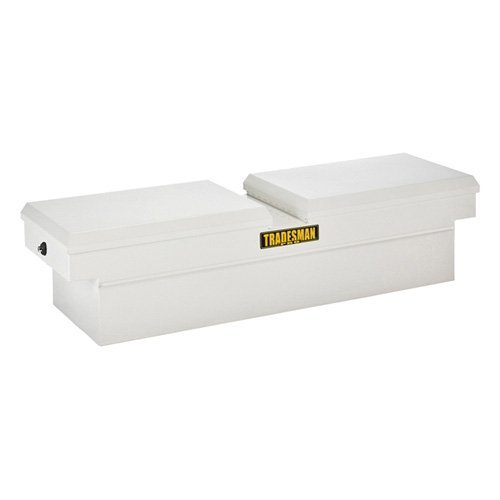 Tradesman 60 in. Gull Wing Steel Pro Cross Bed Box with Push Button for Mid-Size Trucks