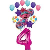 Trolls World Tour Birthday Party Supplies Poppy Balloon Bouquet Decorations