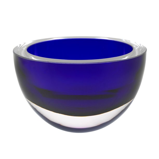 6 Mouth Blown European Made Lead Free Cobalt Blue Crystal Bowl Walmart Com Walmart Com