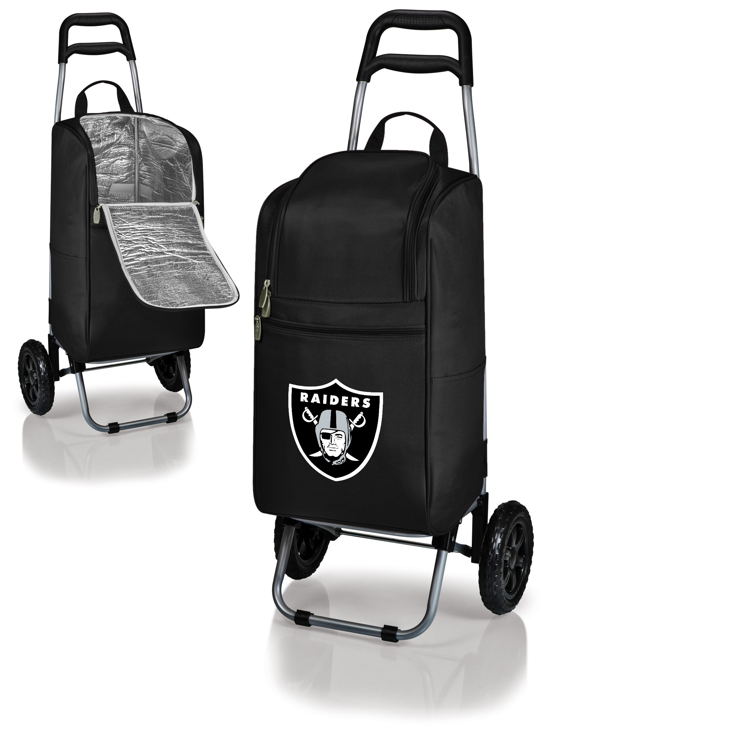 Oakland Raiders Cart Cooler - Black - No Size