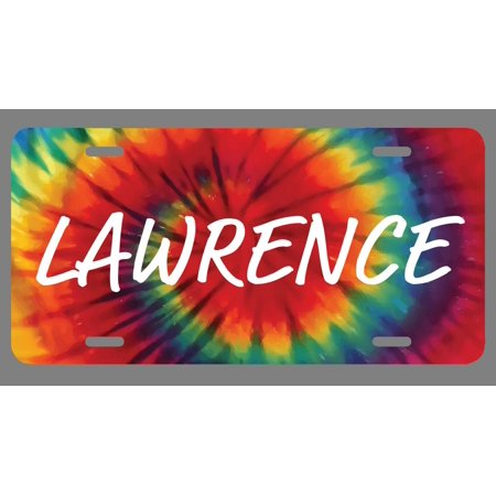 Lawrence Name Tie Dye Style License Plate Tag Vanity Novelty Metal | UV Printed Metal | 6-Inches By 12-Inches | Car Truck RV Trailer Wall Shop Man Cave | NP1774](The Cave Lawrence Halloween)