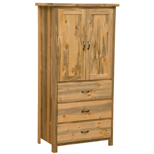 Fireside Lodge Blue Stain Pine Armoire