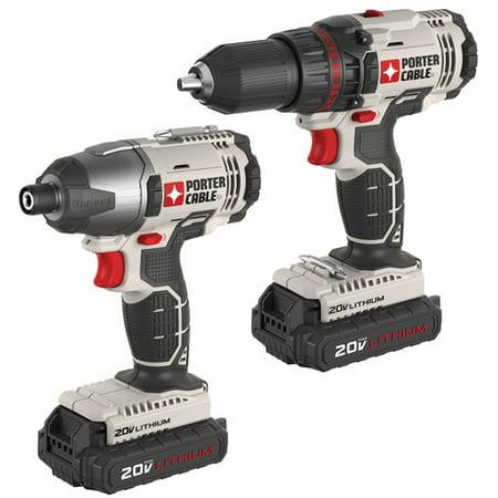 Buy Porter-cable Pcck604l2 20-volt Li-ion Drill Impact Driver Combo Kit