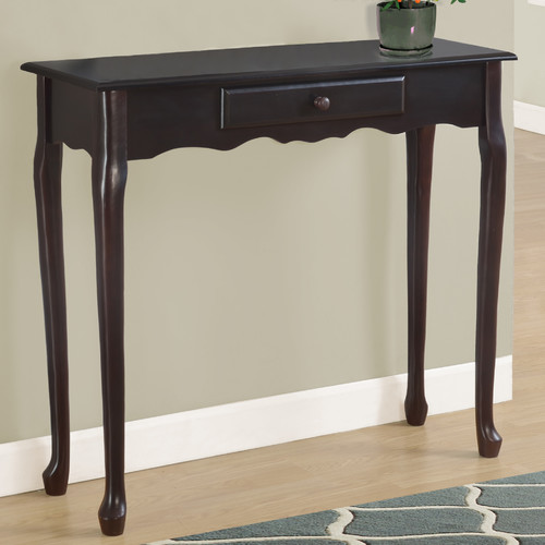 "Monarch Accent Table 36""L   Antique White Hall Console by Monarch Specialties"