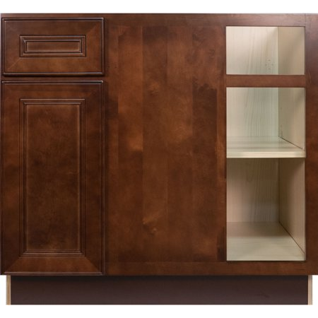 Everyday cabinets 42 inch cherry mahogany brown leo saddle for 42 inch kitchen cabinets