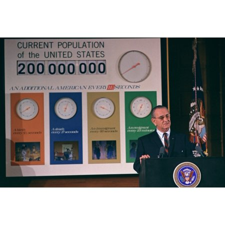 LbjS Great Society Programs President Lyndon Johnson At A Ceremony Commemorating The Birth Of The 200-Millionth American Four Clocks Measure The Rates Of Birth History (Graduation Ceremony Program)