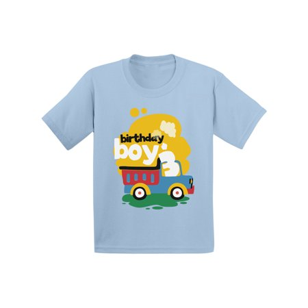 Birthday Shirts For Toddlers (Awkward Styles Toy Truck Birthday Boy Toddler Shirt 3rd Birthday Shirt for Toddler Boys Truck Themed Birthday Party Third Birthday Gifts for 3 Year Old Boy Cute Birthday Outfit Birthday)