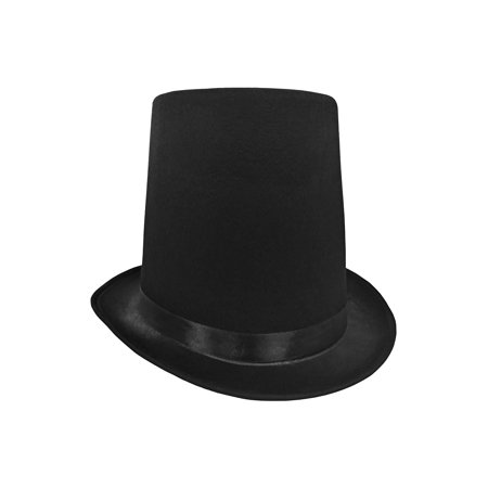 """8"""" Tall Abraham Lincoln Stovepipe Black Top Hat Steampunk Honest Abe Costume"""