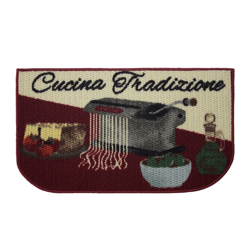 Structures Cucina Tradizione Printed Textured Loop Kitchen Accent Rug