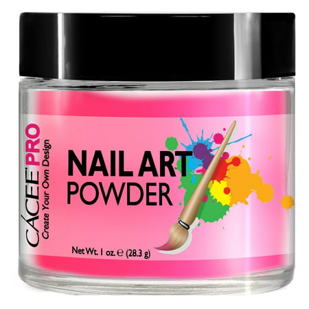 Acrylic Nails Color Powder For Nail Art, 1oz Jar by Cacee, For Any Professional Acrylic Nail Kit, Premix of Pigments, Glitter, & Metallic - Black And Red Halloween Nail Art