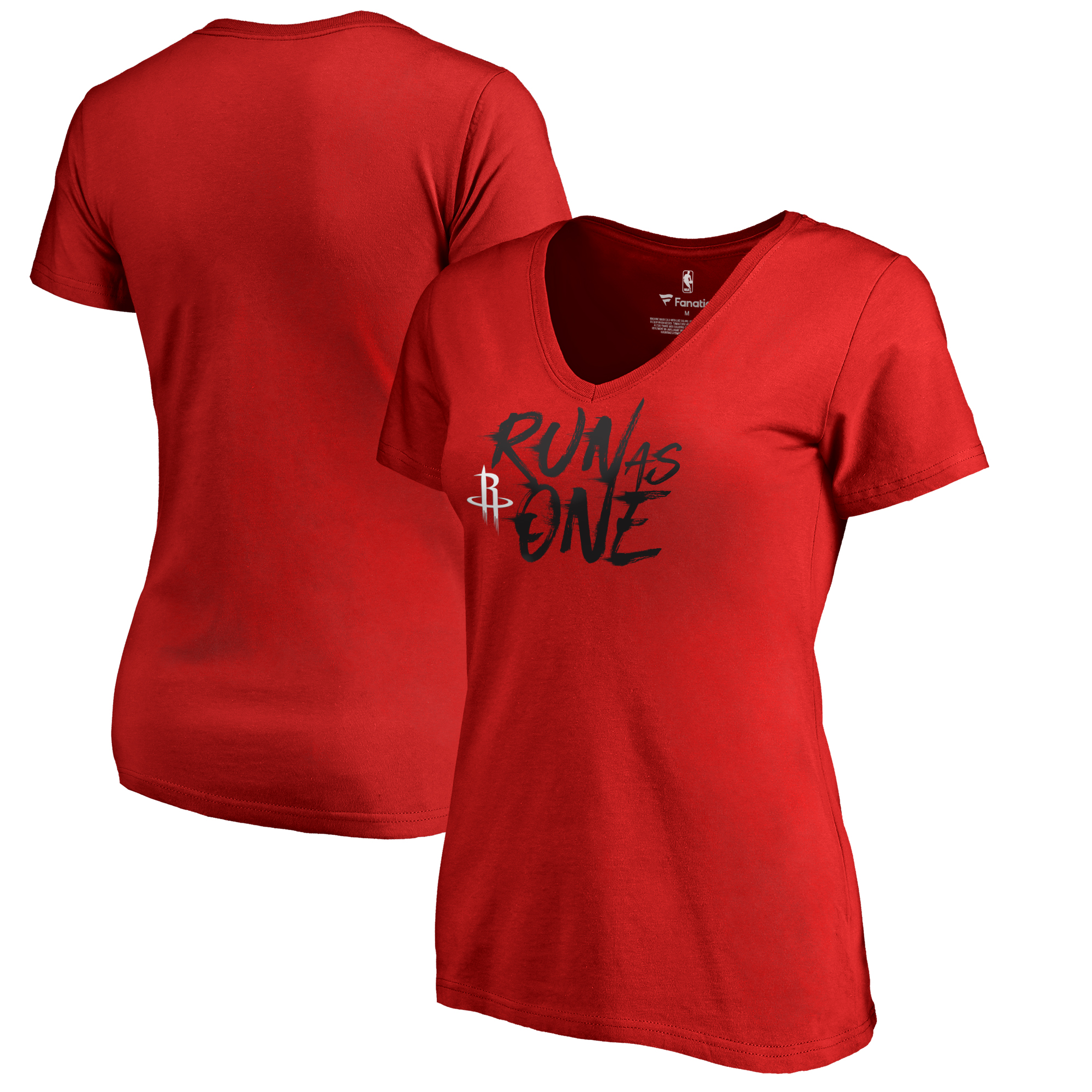 Houston Rockets Fanatics Branded Women's Hometown Collection Run as One T-Shirt - Red