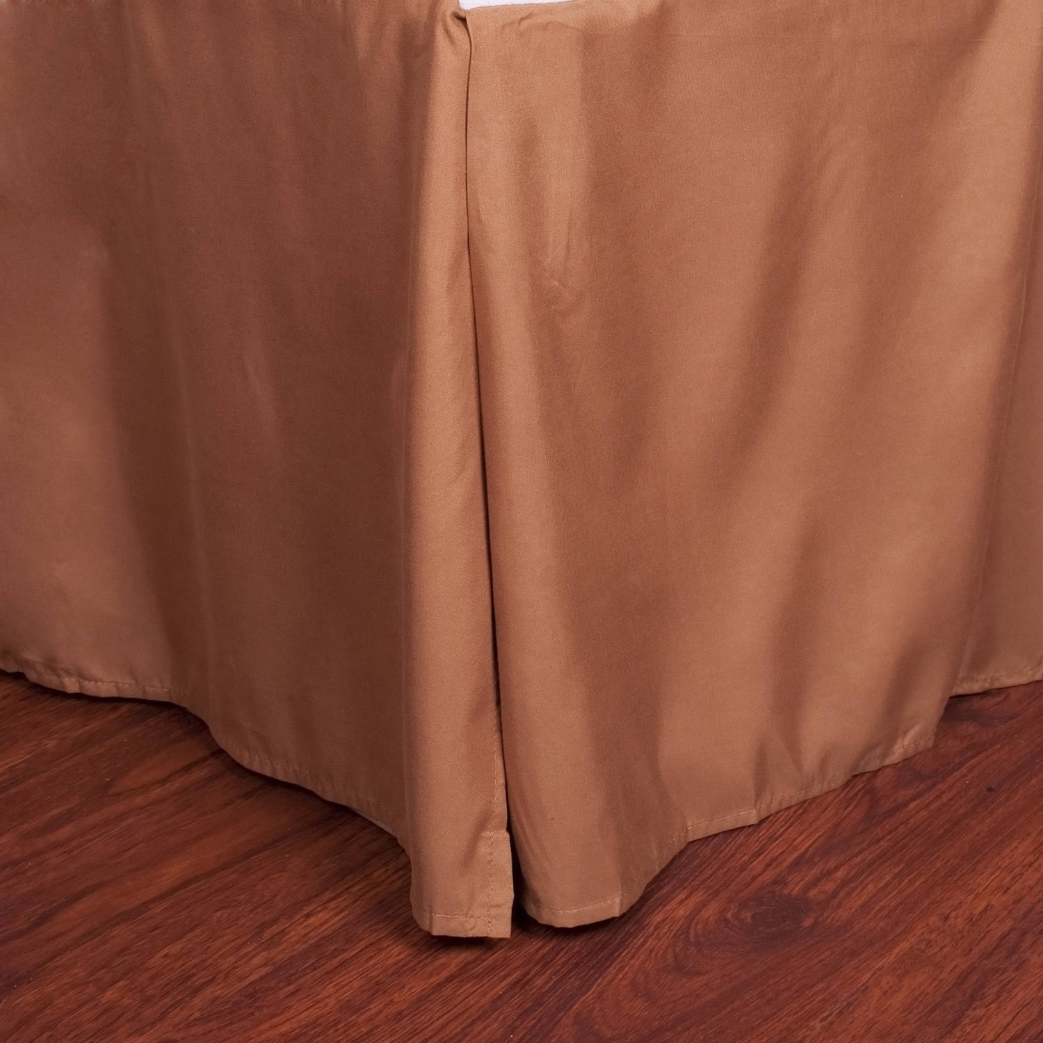 "Microfiber 1500 Egyptian Quality Pleated Bed Skirt with 14"" Drop"