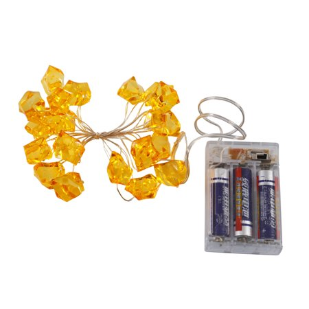 Led Icecubes (Vickerman 20 Light LED Gold Battery Operated Ice Cube Light Set, 6Hr)