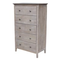 International Concepts Napoleon 5-drawer Chest, Washed Gray Taupe