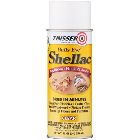 (3 Pack) Zinsser® Bulls Eye® Shellac Traditional Finish & Sealer Spray 12 oz. Aerosol Can
