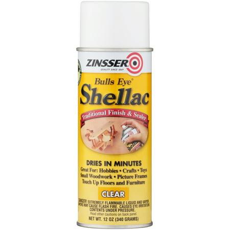 (3 Pack) Zinsser® Bulls Eye® Shellac Traditional Finish & Sealer Spray 12 oz. Aerosol Can