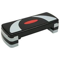 Everyday Essentials Adjustable Workout Aerobic Stepper Step Platform Trainer, 4 Removable Raisers Included