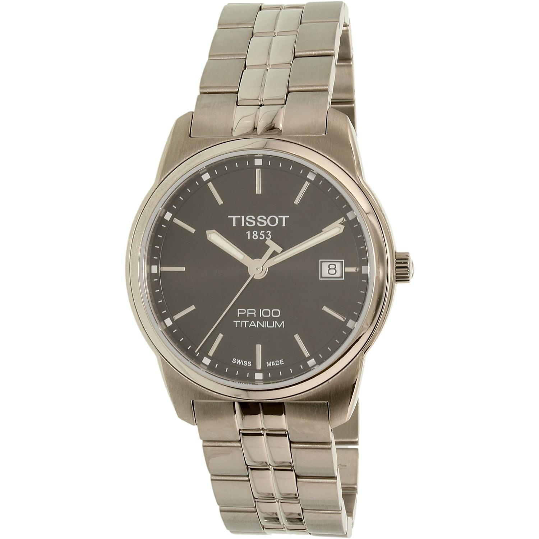 Tissot Men's Pr 100 T049.410.44.051.00 Silver Titanium Sw...