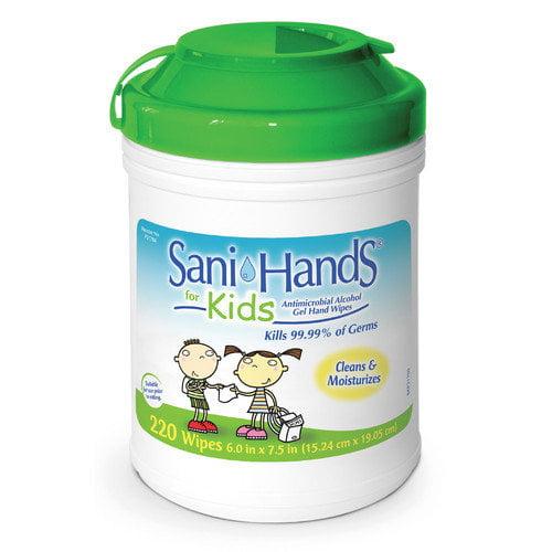 Medline Sani-Hands Kids Antimicrobial Alcohol Gel Hand Wipe