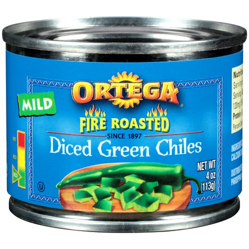 Ortega Diced Green Chiles, 4 oz