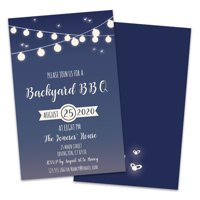Personalized Backyard BBQ Party Invitations