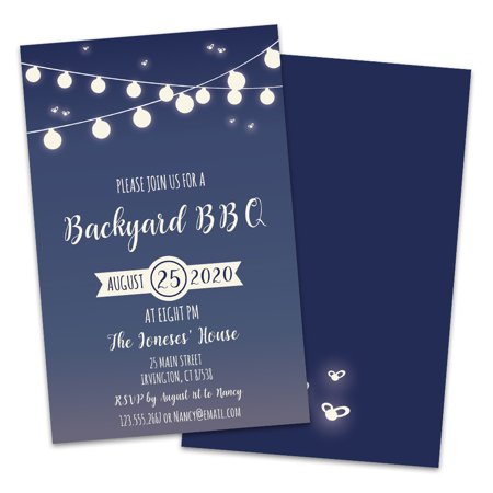 Personalized Backyard BBQ Party Invitations](Backyard Bbq Party Supplies)