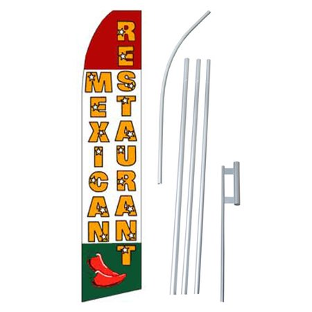 Neoplex Mexican Restaurant Swooper Flag And Flagpole Set